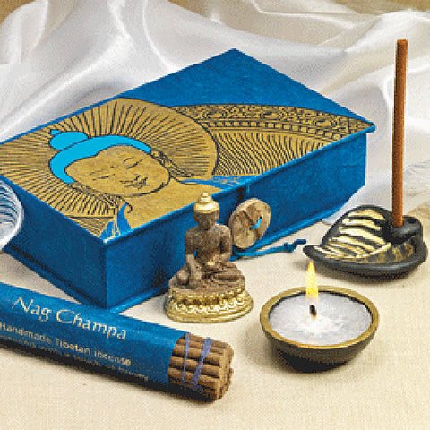 Travel Altar Box, Buddha Meditation Box. Meditation Gift Set, Traveling Altar