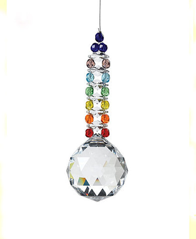 Crystal Suncatcher, Hanging Crystal Prismatic, Handcrafted Suncatcher, Chakra Suncatcher