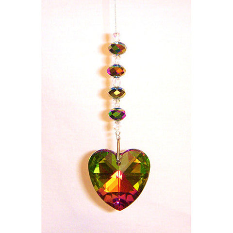 Crystal Suncatcher, Handcrafted Crystal Sun Catcher, Unique Hanging Suncatcher