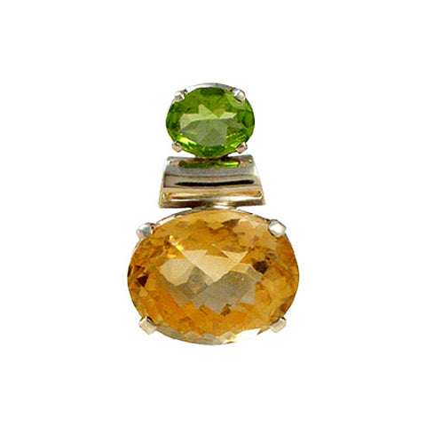 Faceted Citrine Pendant, Spiritual Jewelry, Gemstone Jewelry