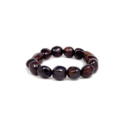 Garnet Power Bead Bracelet, Gemstone Energy Bead Bracelet, Crystal Stretchy Bead Bracelet