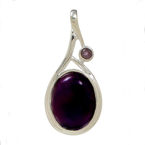Sterling Amethyst Pendant, Spiritual Jewelry, Gemstone Jewelry, Handcrafted Gemstone Jewelry