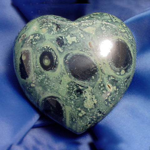Kambaba Jasper Heart, Gemstone Heart, Crystal Heart