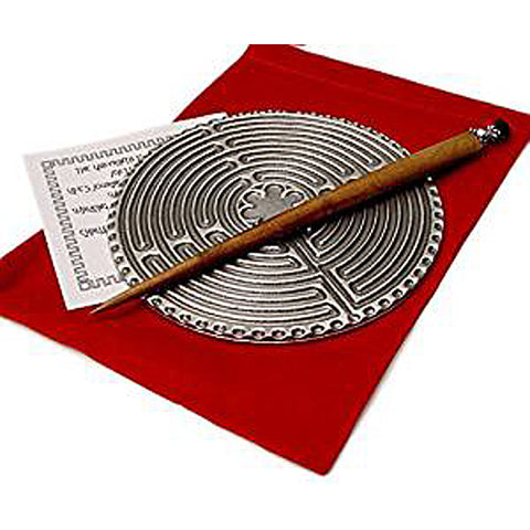 Pewter Desk Top Labyrinth, Pewter Labyrinth with Stylus