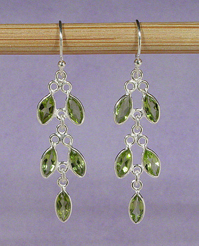 Peridot Marquise Earrings