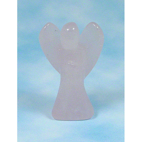 Rose Quartz Angel, Crystal Angel, Crystal Pocket Angel