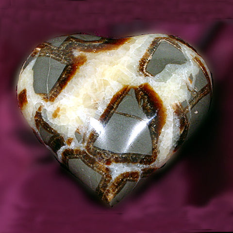 Septarian Heart, Gemtone Heart, Crystal Heart