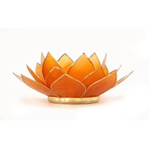 Tealight Holder, Capiz Shell Tealing Holder, Lotus Tealight Holder