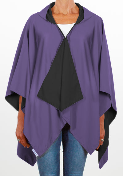 Hooded Black & Purple RAINRAP