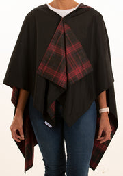Hooded Black & Red Plaid RAINRAP