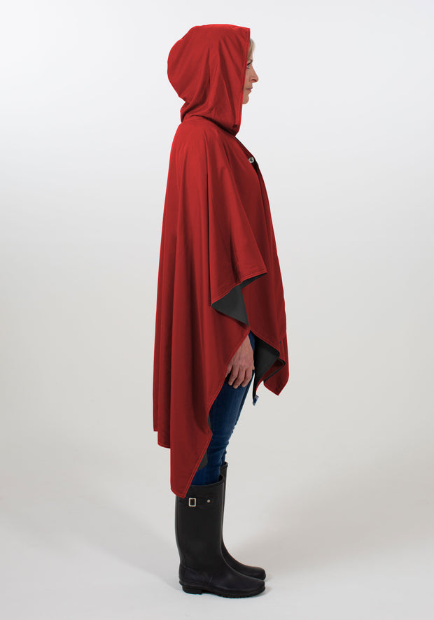 Hooded Black & Jester Red RAINRAP