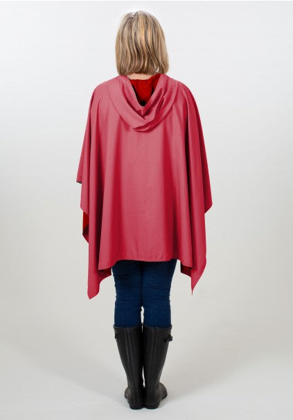 Hooded Pink & Red RAINRAP