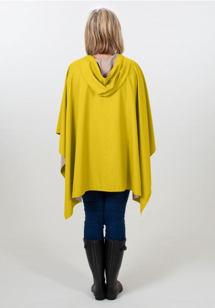 Hooded Yellow & Camel RAINRAP