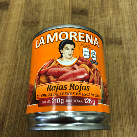 La Morena Sliced Pickled Red Jalapenos