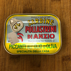 Pollastrini Spicy Sardines in Olive Oil