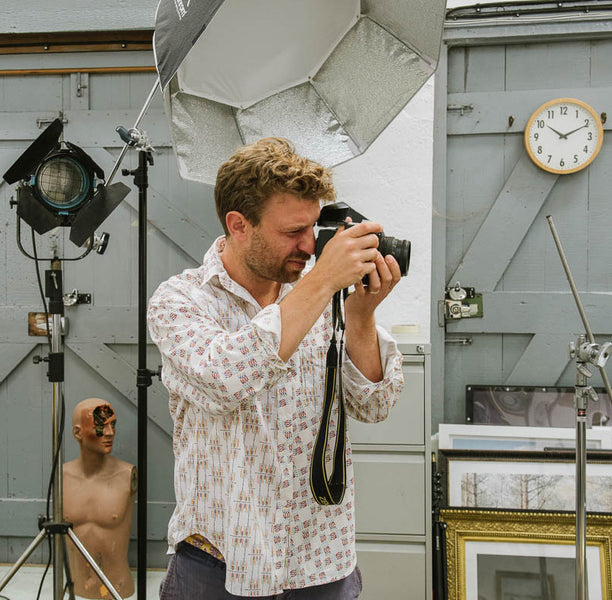 Portrait Three - Photographer Dave Watts in his studio in Castle Cary, Somerset
