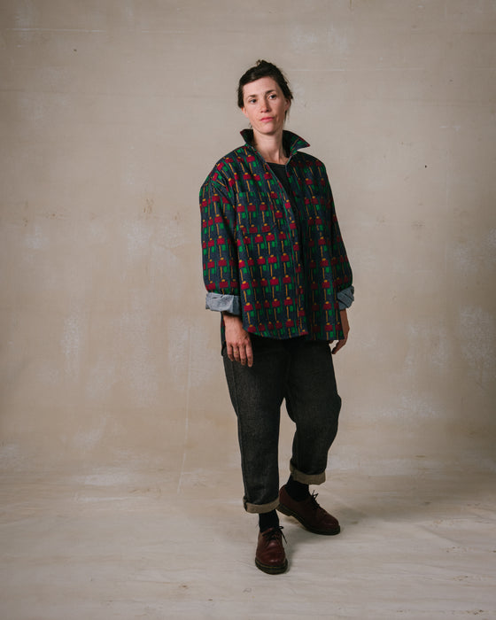 Unisex Shirt in Hopping Man Recycled Denim