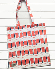 Giant Tote Bag in Orange Square Print