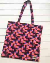 Giant Tote Bag in Patchwork Picnic print