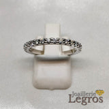 Bijou Alliance Or blanc 18 carats 17 Diamants joaillerie legros bijouterie