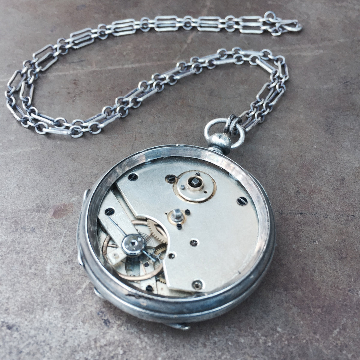 Custom Project #33 - Pocket Watch Statement Necklace