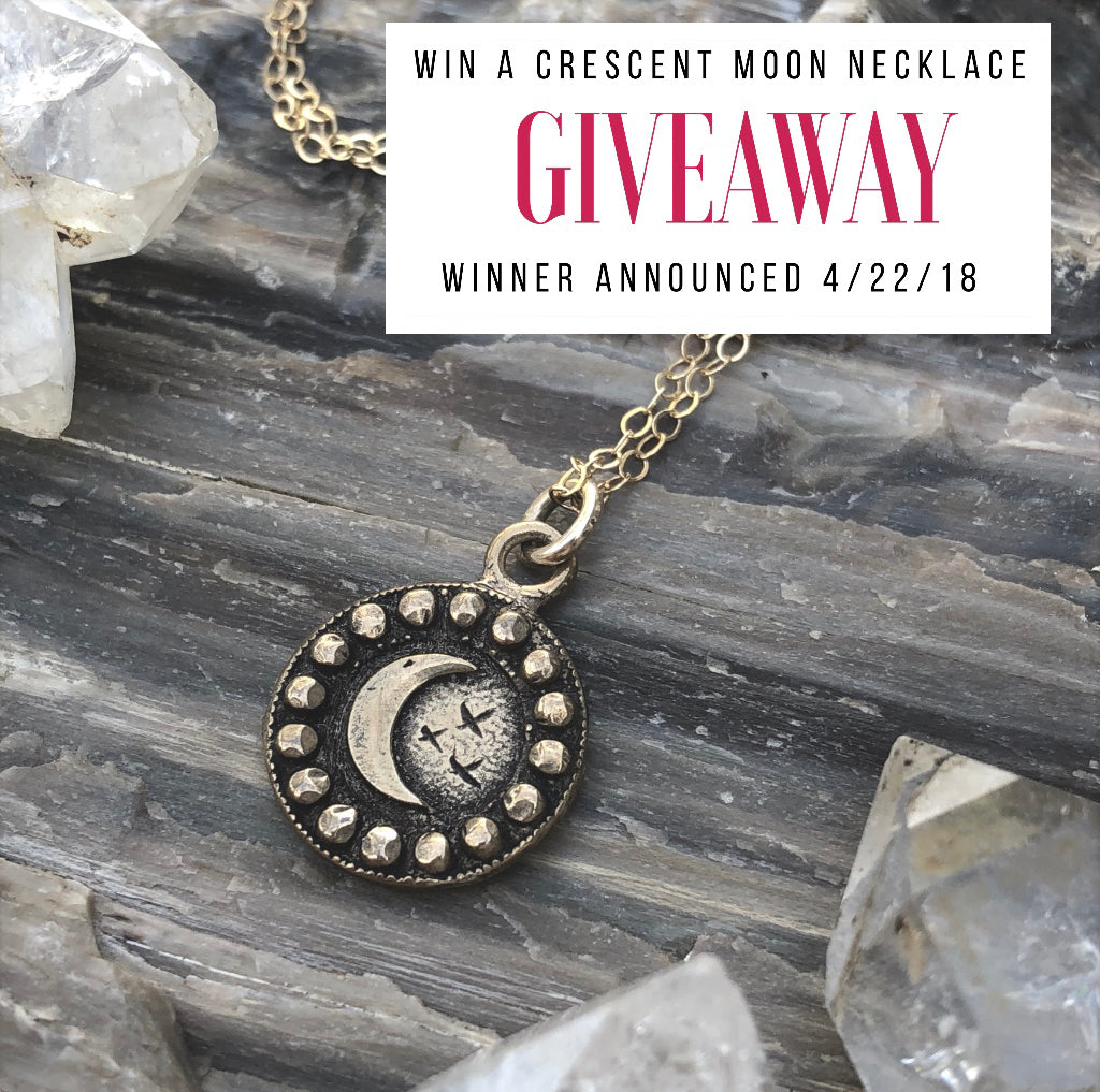April Crescent Moon Necklace Giveaway!