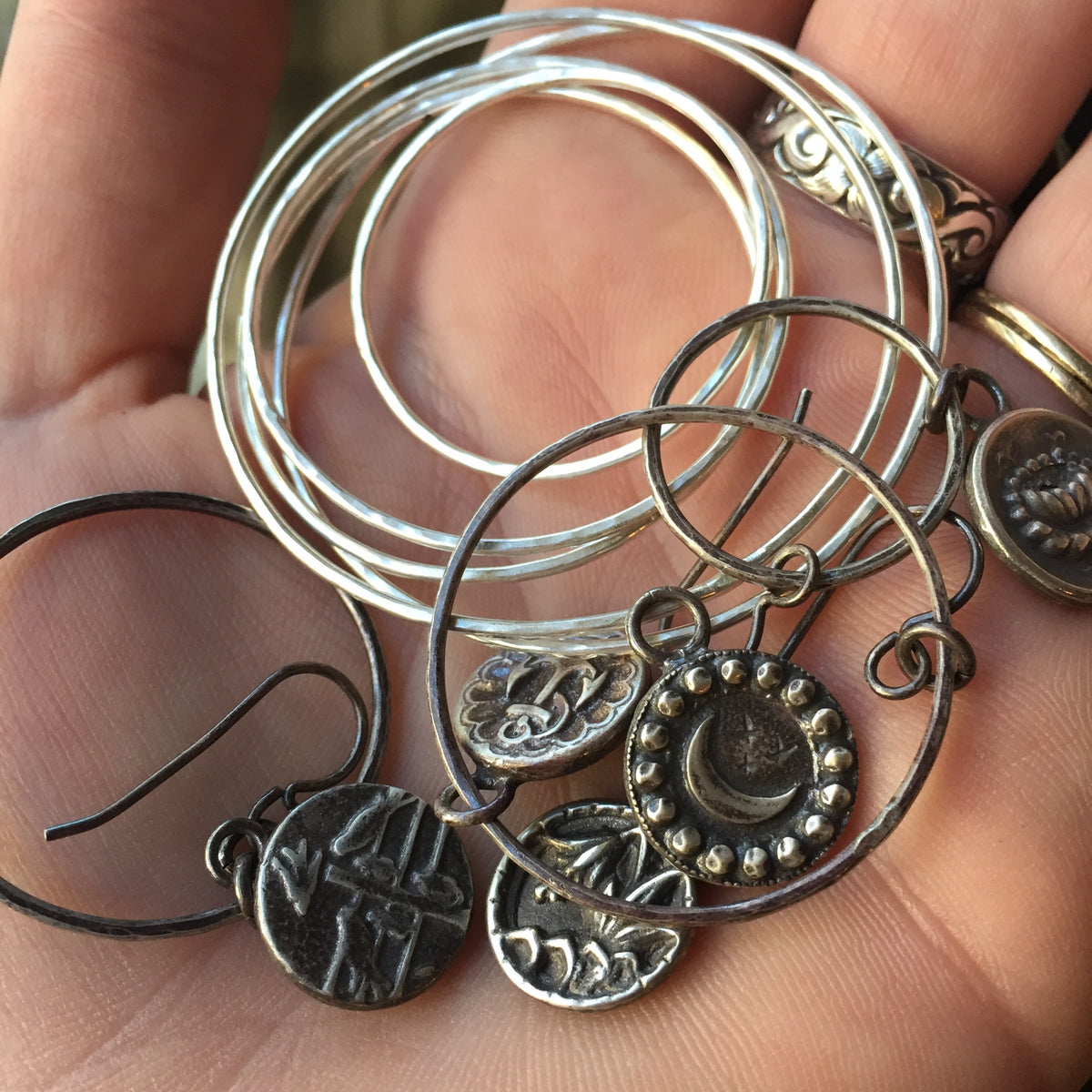 Ethics and Ecology in Supply Chain: Recycled Silver and Bronze Antique Button Jewelry
