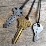 How to Make Metal Stamped Vintage Key Jewelry in 4 easy steps!