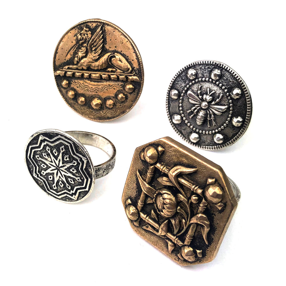 compass rose design rings collection