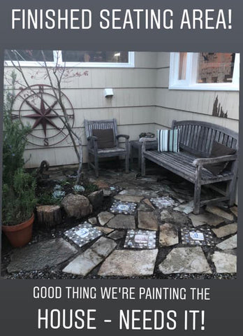 mosaic diy patio