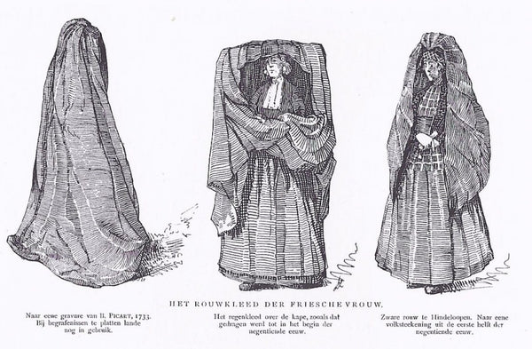 huik Friesland rouwdracht mourning clothes