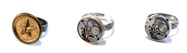 mens steampunk rings