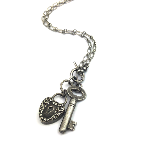 valentines day lock and key necklace