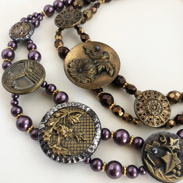 victorian button chokers