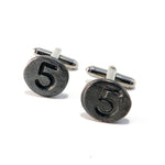 05 Railroad Date Nail Cufflinks