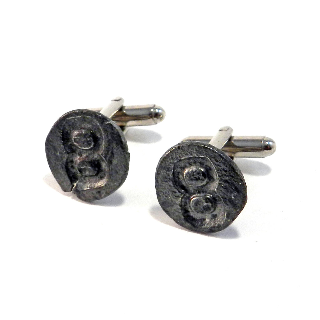 08 Railroad Date Nail Cufflinks