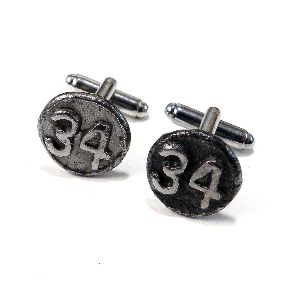1934 Railroad Date Nail Cufflinks