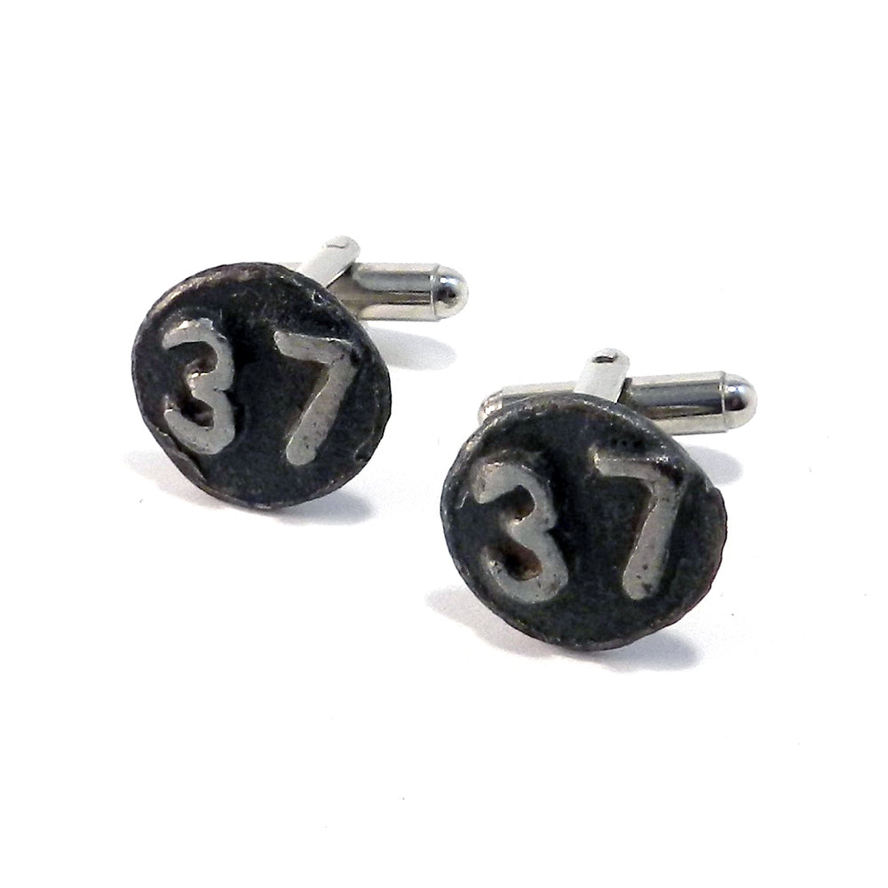 1937 Railroad Date Nail Cufflinks
