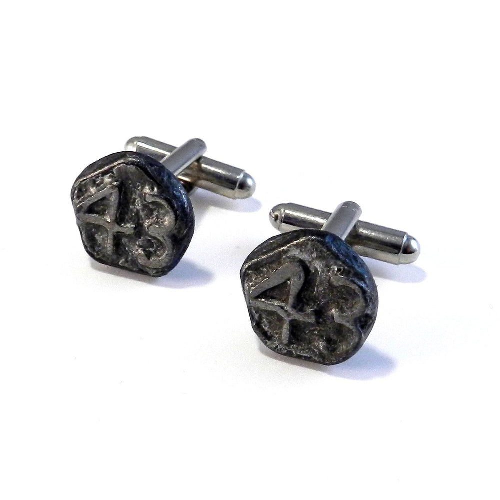 1943 Railroad Date Nail Cufflinks