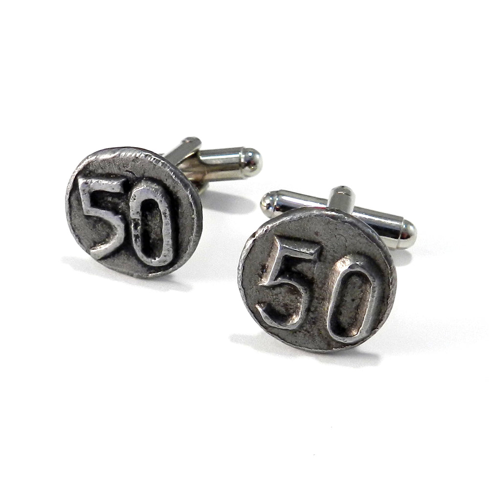 1950 Railroad Date Nail Cufflinks
