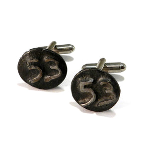 1953 Railroad Date Nail Cufflinks