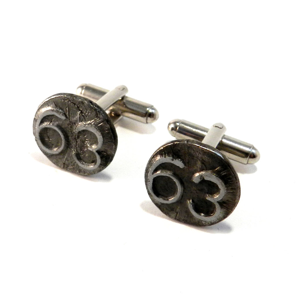 1963 Railroad Date Nail Cufflinks