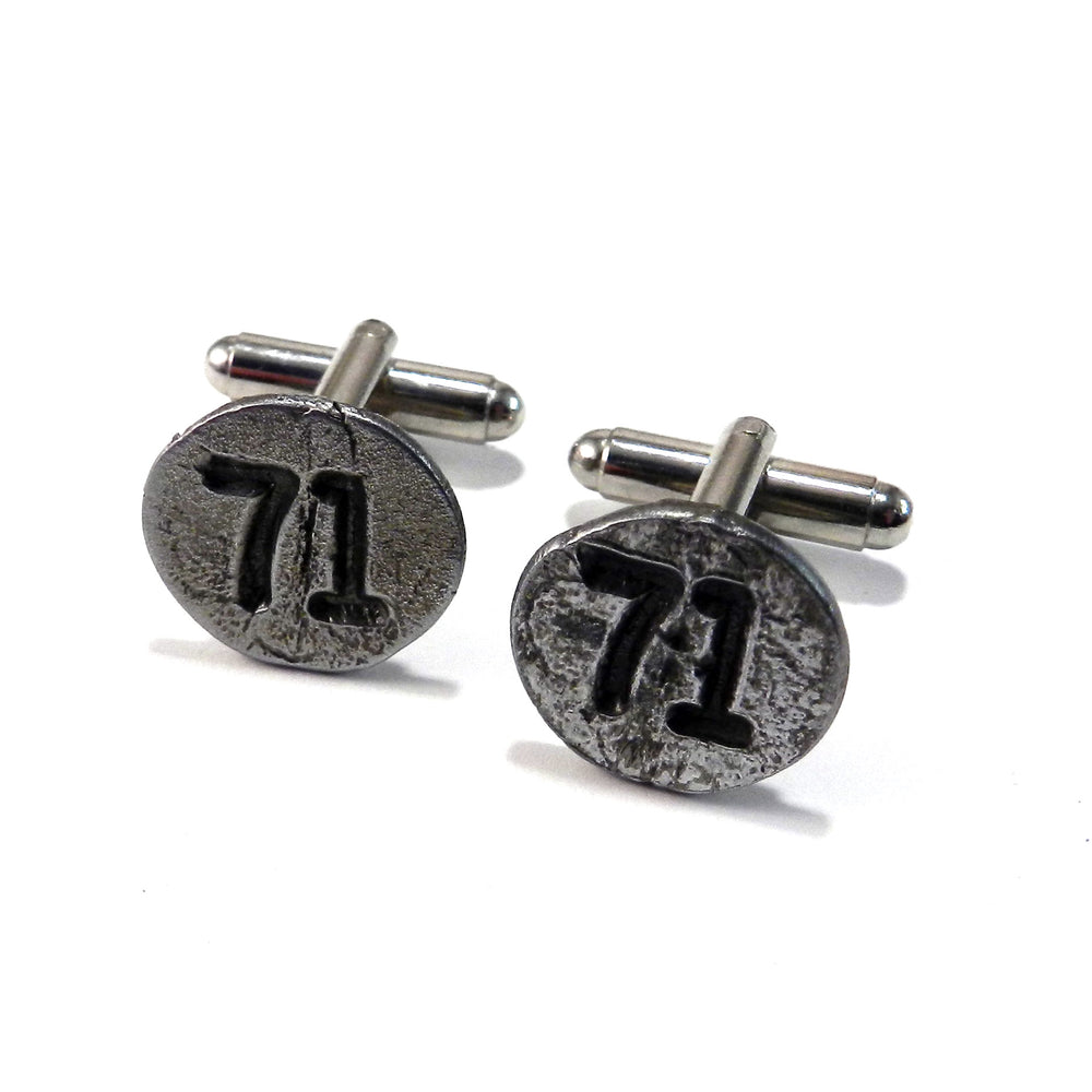1971 Railroad Date Nail Cufflinks