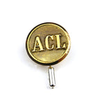 ACL Atlantic Coastline Railways - Vintage Button Pin - Brass