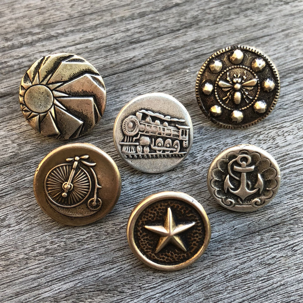 SIRIUS DOG STAR Antique Button Lapel or Hat Pin - SILVER or GOLD