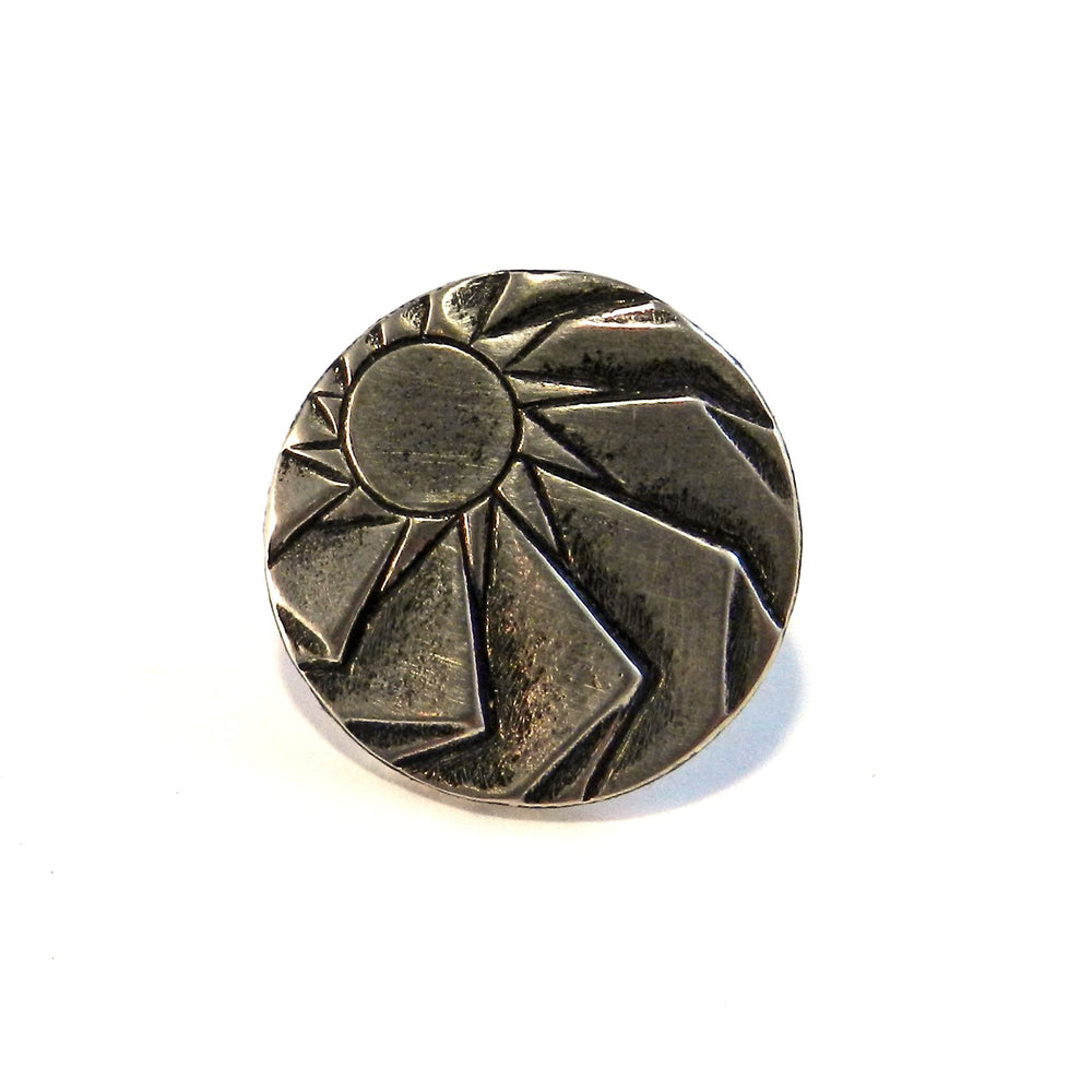HORIZONS Antique Button Lapel or Hat Pin - SILVER or BRONZE