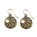HORIZONS Antique Button Earrings - GOLD