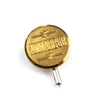 Ann Arbor Railroad Vintage Button Pin - Brass