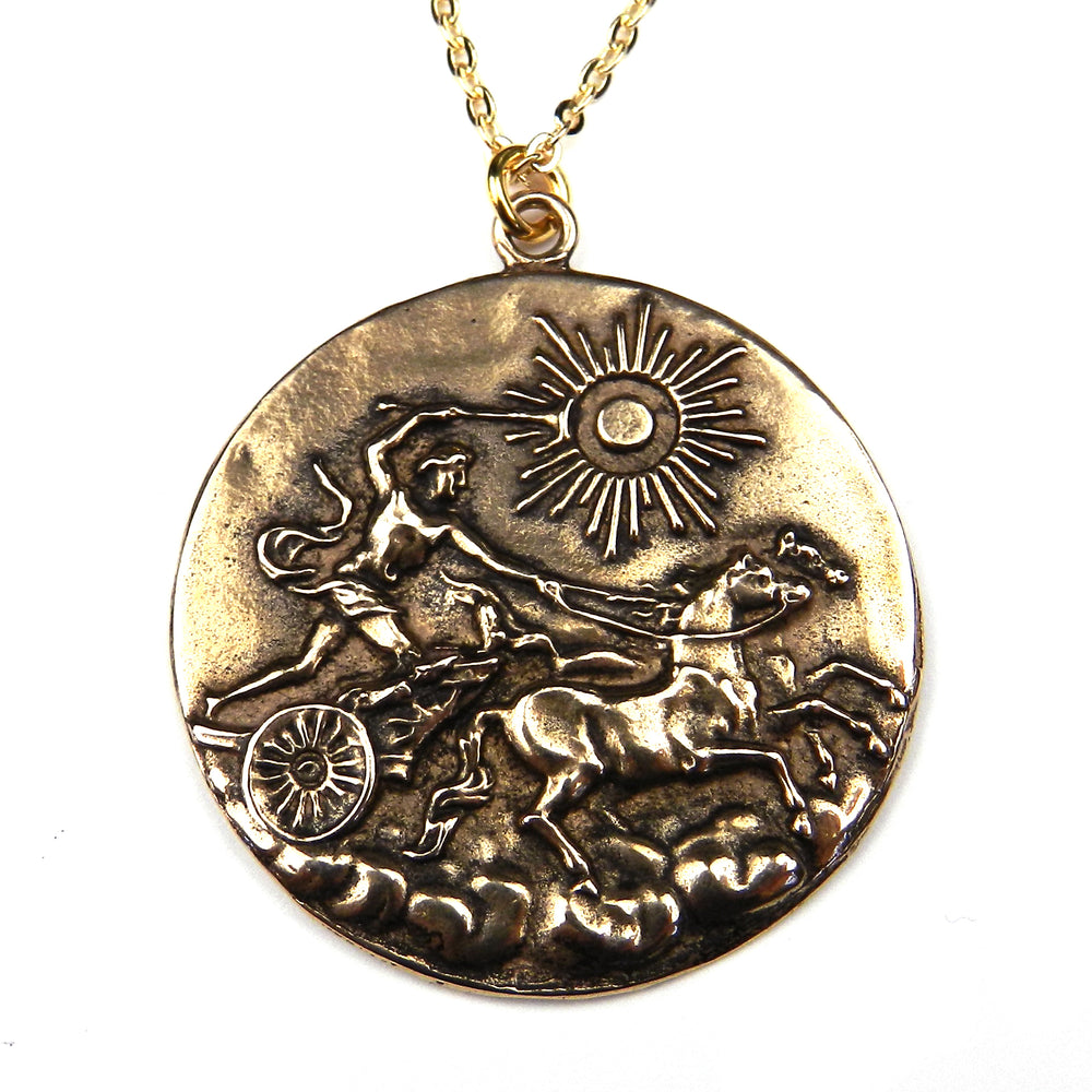APOLLO - Victorian Greek Button Necklace
