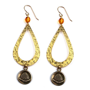 BEEHIVE Teardrop Earrings - GOLD
